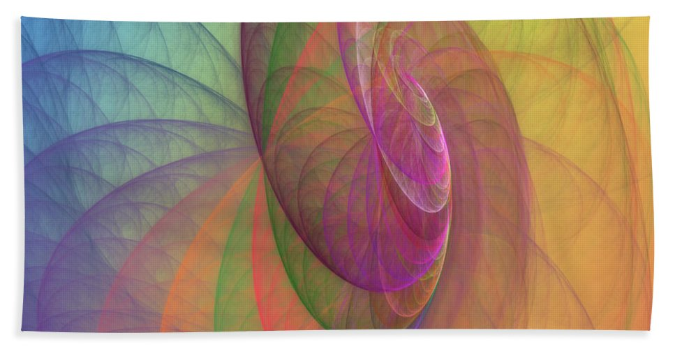 Fractal Bath Sheet featuring the digital art Mid-afternoon Rest by Angela Stanton