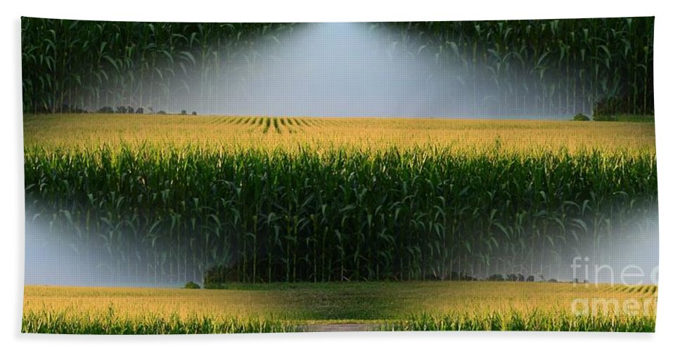 Logo Hand Towel featuring the photograph Midwest Gold by Luther Fine Art