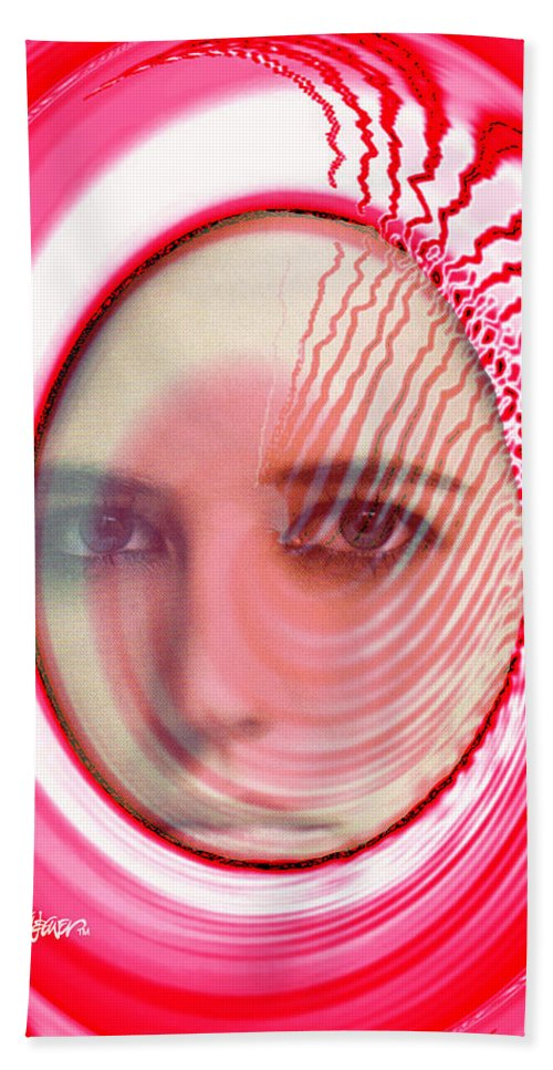 Migraine Bath Sheet featuring the digital art Migraine by Seth Weaver