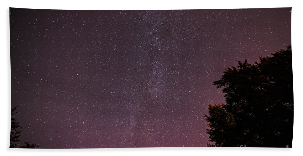Landscape Bath Sheet featuring the photograph Milky Way In Nj by Michael Ver Sprill