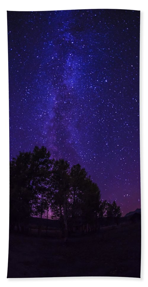 Milky Way Bath Sheet featuring the photograph Milky Way by Vishwanath Bhat