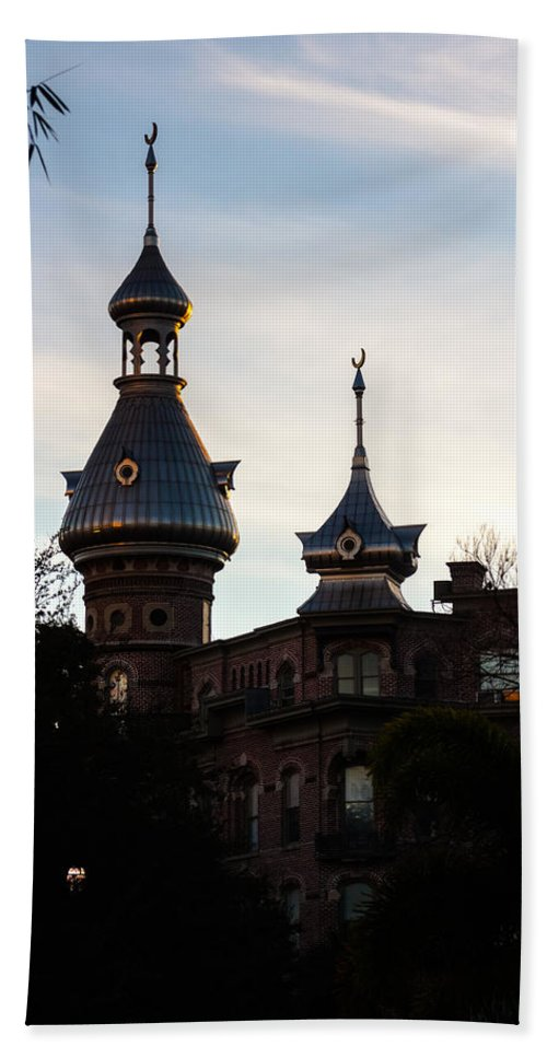 America's Gilded Age Bath Sheet featuring the photograph Minaret And Turret by Ed Gleichman
