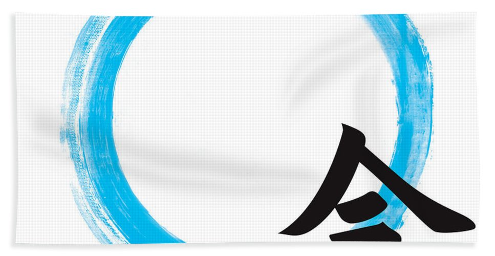 Enso Hand Towel featuring the painting Mindfullness-zen Enso by To-Tam Gerwe