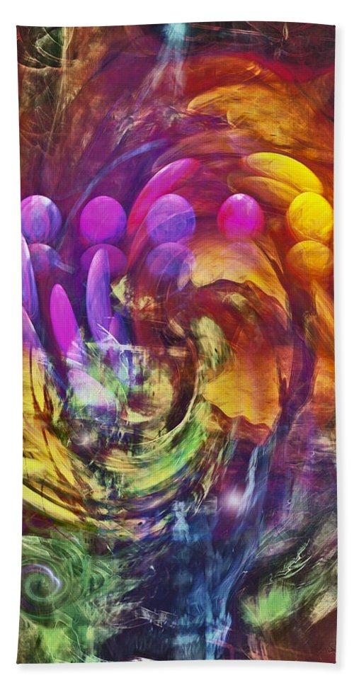 Mindscape Bath Sheet featuring the digital art Mindscape by Linda Sannuti