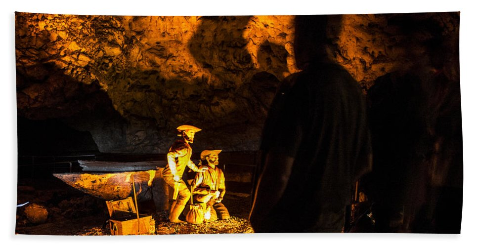 Meramec Caverns Hand Towel featuring the photograph Miners by Angus Hooper Iii