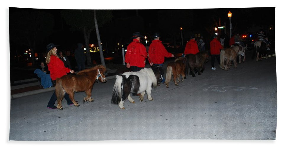 Edison Parade Of Lights Bath Sheet featuring the photograph Miniature Ponys by Robert Floyd