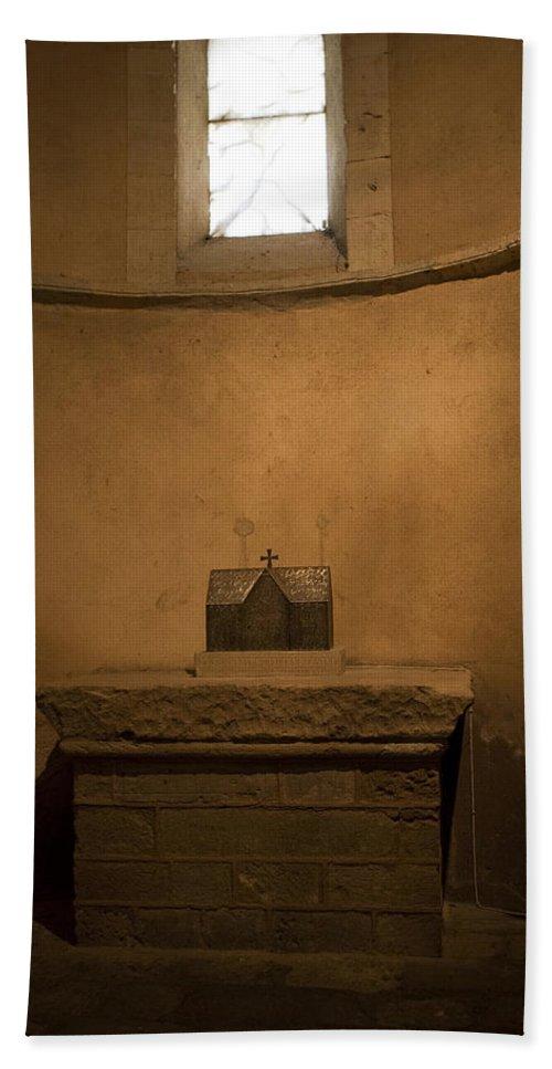 Suckling Pig Hand Towel featuring the photograph Miniature Templar Church by Lorraine Devon Wilke