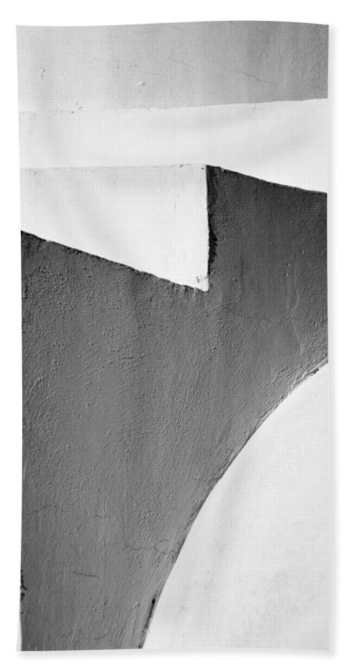 Abstract Hand Towel featuring the photograph Minimal Stairs by Stelios Kleanthous