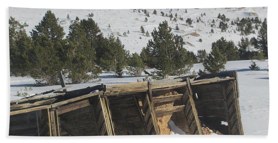 Snow Bath Sheet featuring the photograph Mining History by Tonya Hance