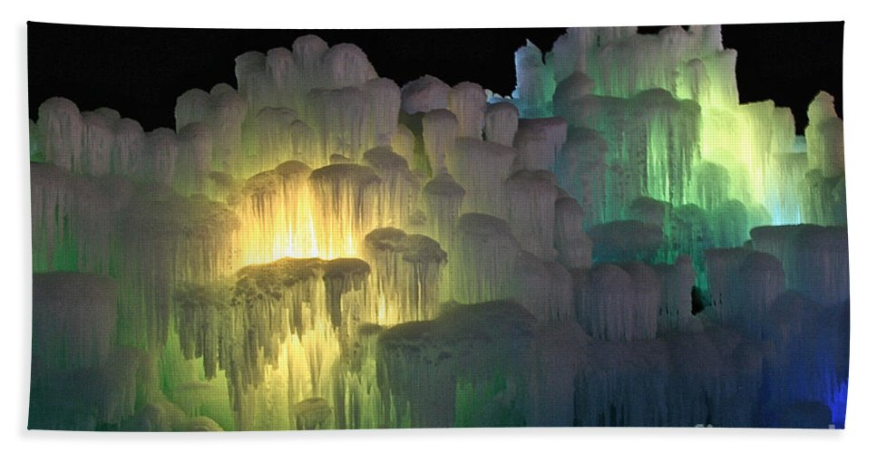 Ice Bath Sheet featuring the photograph Minnesota Ice Castle 2013 by Susan Herber