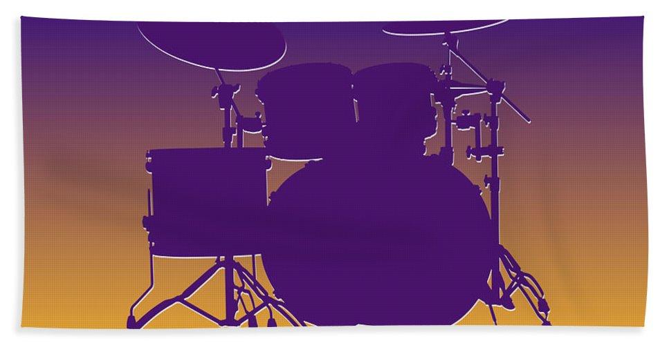 Vikings Bath Sheet featuring the photograph Minnesota Vikings Drum Set by Joe Hamilton