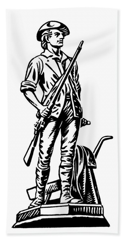 18th Century Hand Towel featuring the photograph Minutemen by Granger