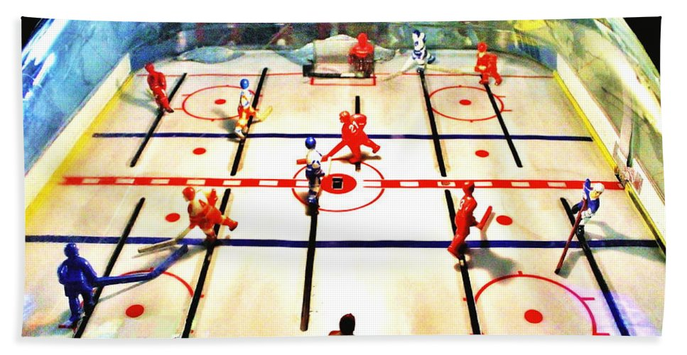 Hockey Bath Sheet featuring the photograph Miracle On Plastic by Benjamin Yeager