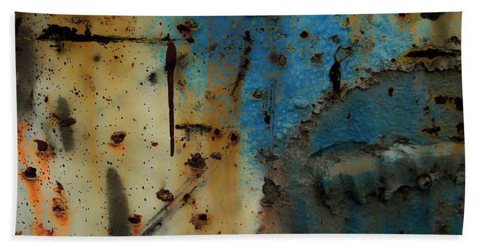 Rust Bath Sheet featuring the photograph Mirage Of Malice by The Artist Project