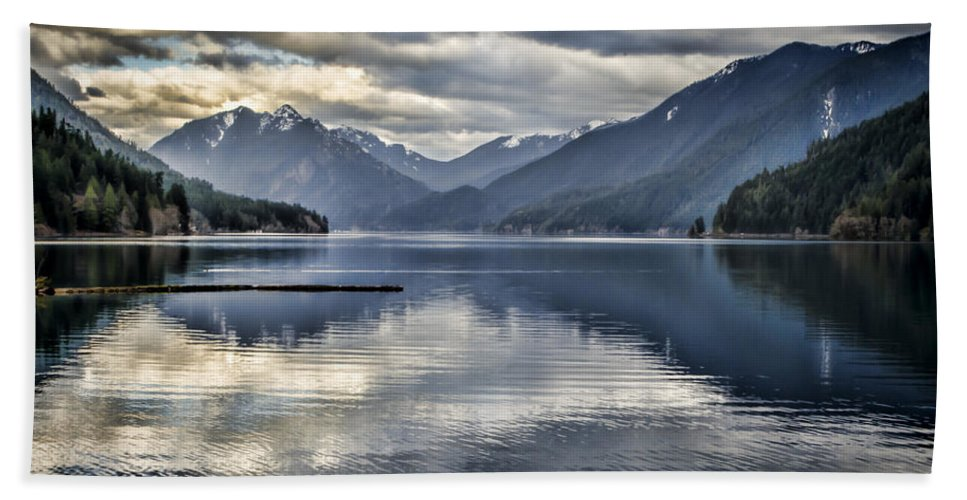 Lake Bath Sheet featuring the photograph Mirror Image by Heather Applegate