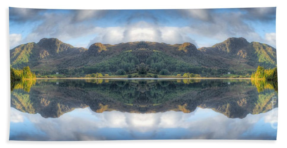 Hdr Bath Sheet featuring the photograph Mirror Lake by Adrian Evans