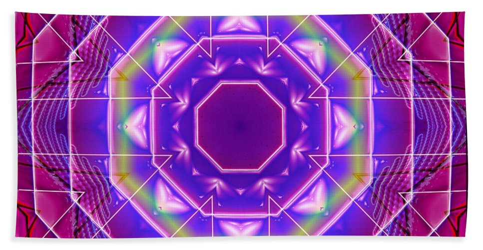 Kaleidoscope Hand Towel featuring the digital art Mirror Reflections by Mario Carini