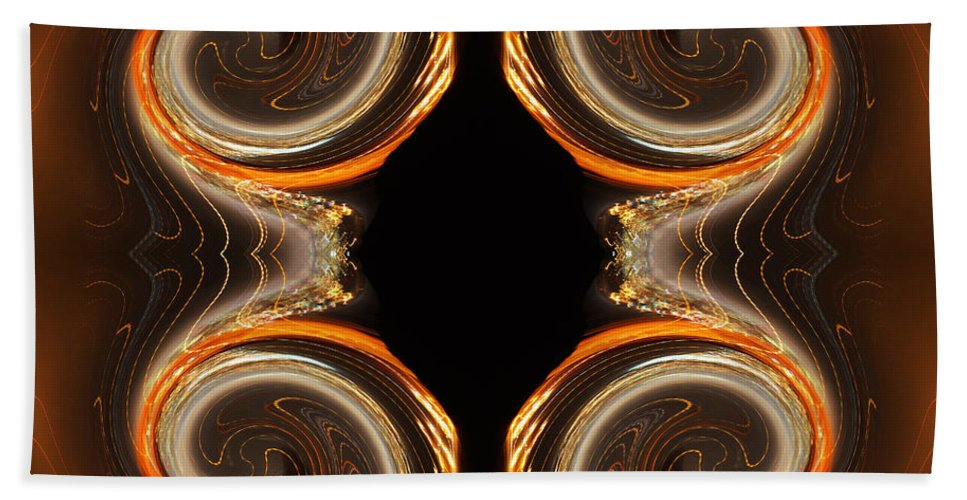 Color Photography Altered Hand Towel featuring the photograph Mirrored Abstract by Jim Fitzpatrick
