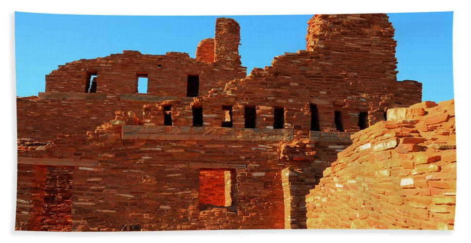 Salinas Pueblo Missions National Monument Hand Towel featuring the photograph Mission Ruins At Abo by Vivian Christopher