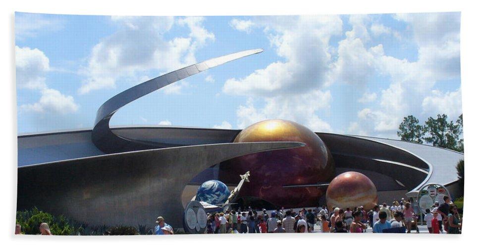 Epcot Centre Theme Park Bath Sheet featuring the photograph Mission Space Pavilion by Lingfai Leung