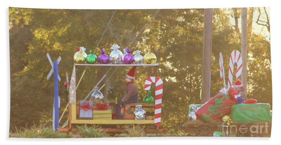 Fire Truck Hand Towel featuring the photograph Mississippi Christmas 1 by Michelle Powell
