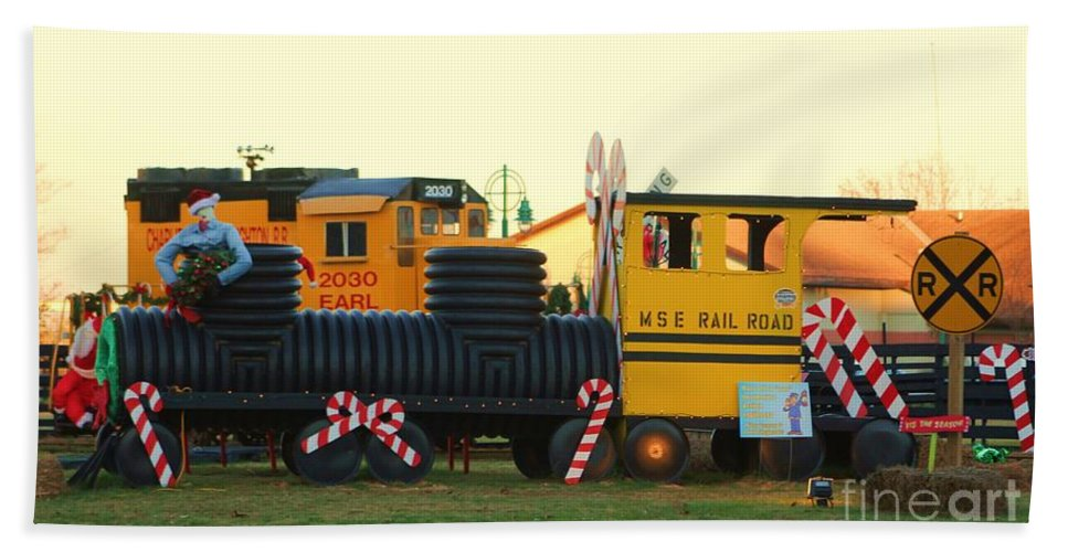 Fire Truck Bath Sheet featuring the photograph Mississippi Christmas 14 by Michelle Powell