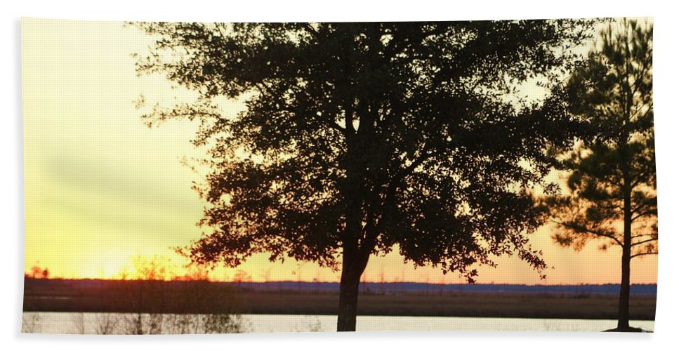 Mississippi Hand Towel featuring the photograph Mississippi Sunset 12 by Michelle Powell