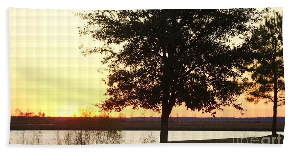 Mississippi Hand Towel featuring the photograph Mississippi Sunset 13 by Michelle Powell