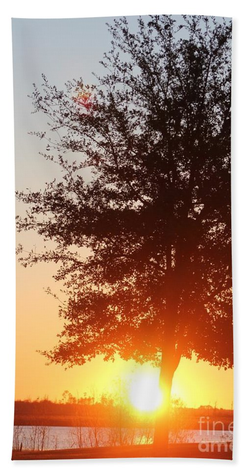 Mississippi Hand Towel featuring the photograph Mississippi Sunset 2 by Michelle Powell