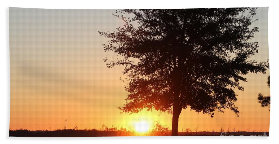 Mississippi Hand Towel featuring the photograph Mississippi Sunset 3 by Michelle Powell