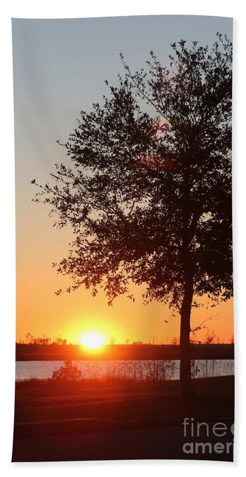 Mississippi Hand Towel featuring the photograph Mississippi Sunset 6 by Michelle Powell
