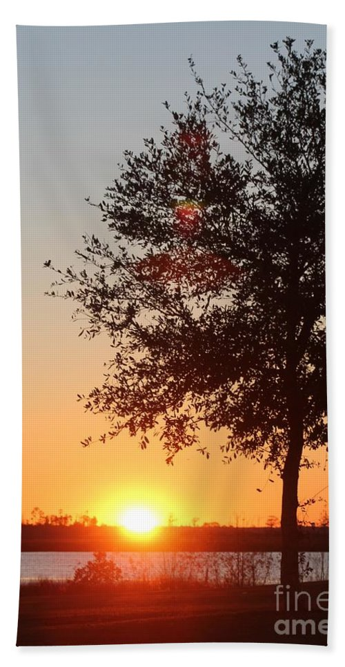 Mississippi Hand Towel featuring the photograph Mississippi Sunset 7 by Michelle Powell