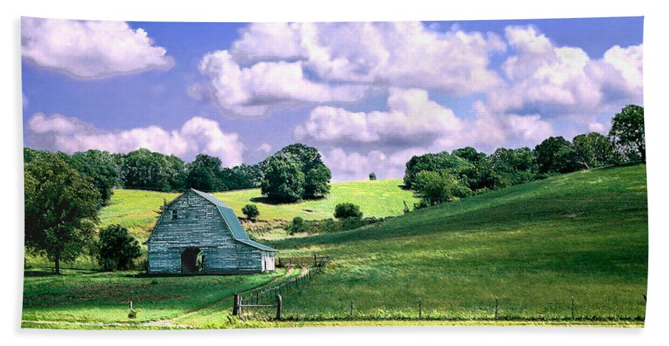 Landscape Hand Towel featuring the photograph Missouri River Valley by Steve Karol