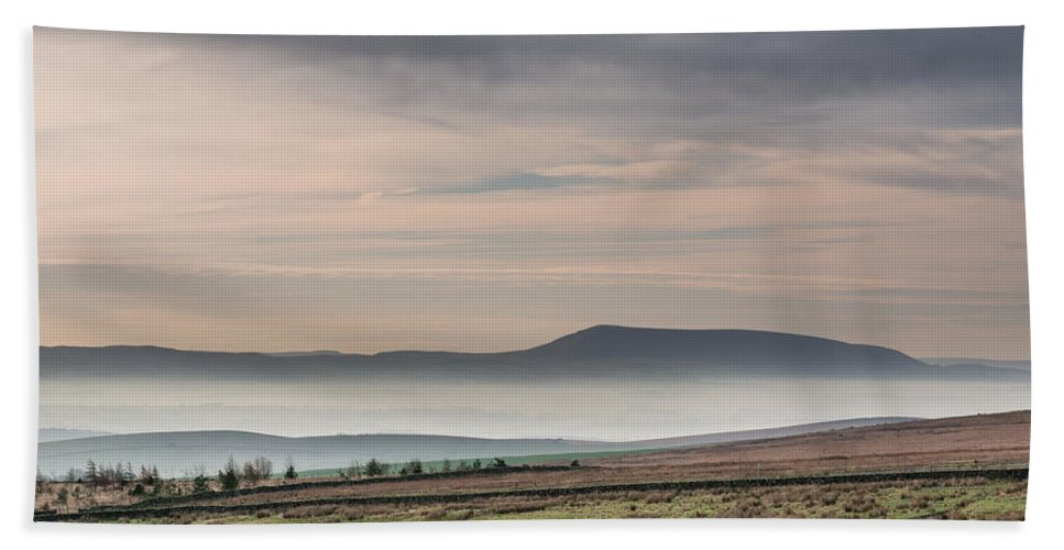 British Hand Towel featuring the photograph Mist In The Valley by David Head