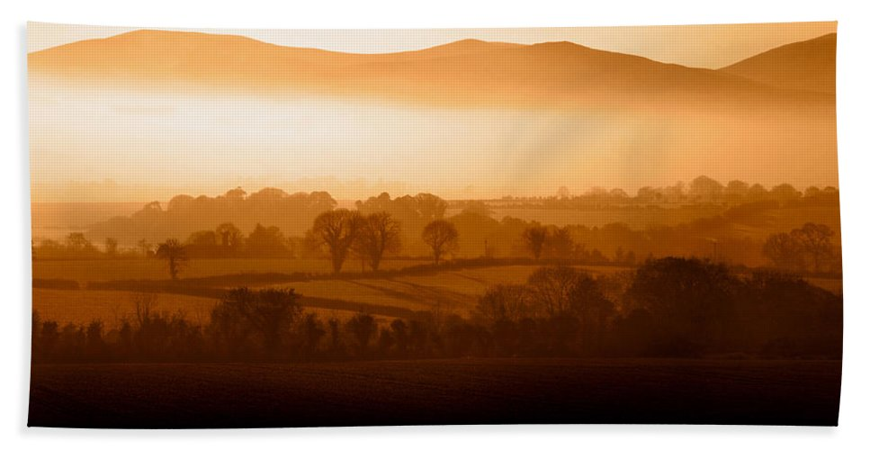 Photography Hand Towel featuring the photograph Mist Shrouded Knockmealdown Mountains by Panoramic Images