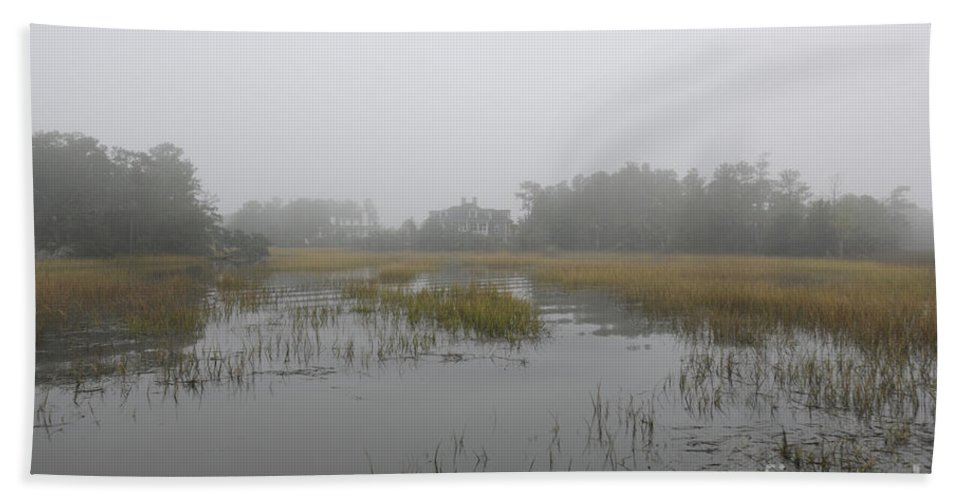 Fog Hand Towel featuring the photograph Mistic Fog by Dale Powell