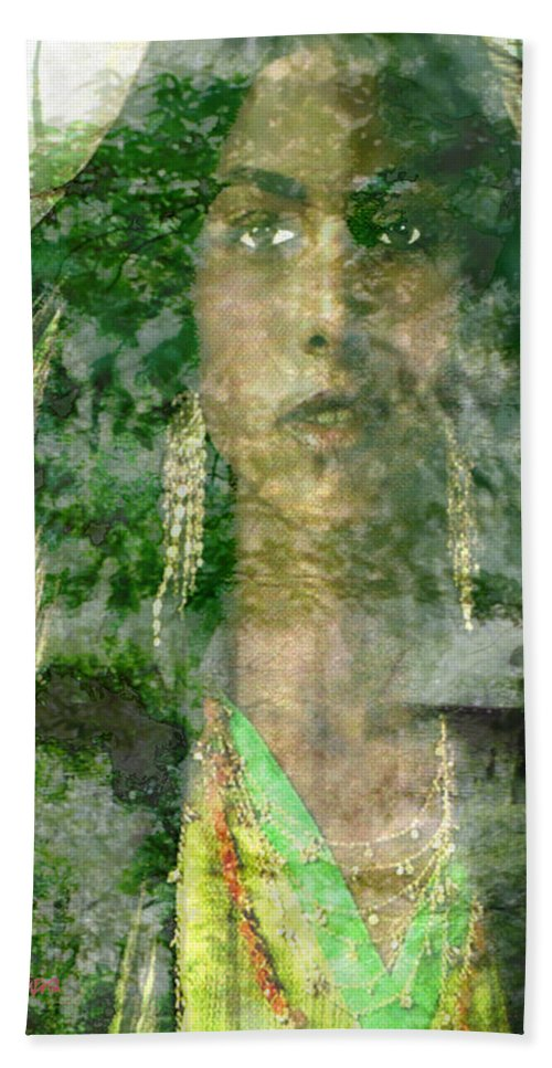 American Indian Hand Towel featuring the digital art Mistress Of The Wind by Seth Weaver