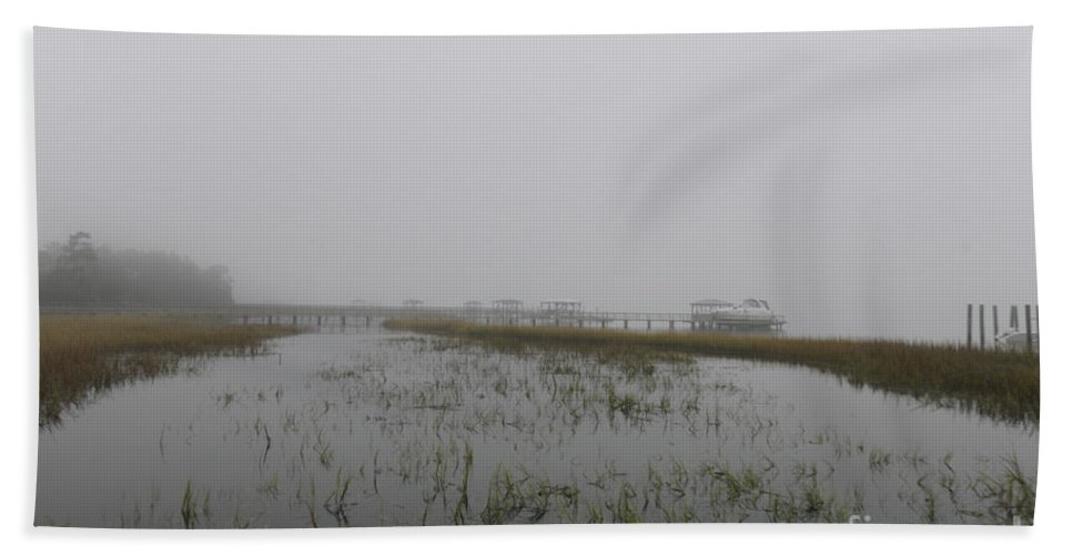 Fog Hand Towel featuring the photograph Misty Morning by Dale Powell