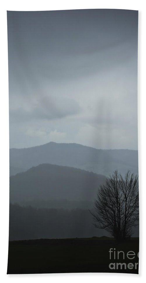 Landscape Bath Sheet featuring the photograph Misty Mountain by Zoran Berdjan
