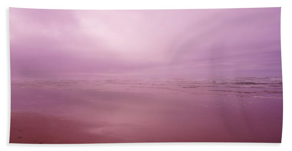 Ocean Hand Towel featuring the photograph Misty Ocean by Jeff Swan