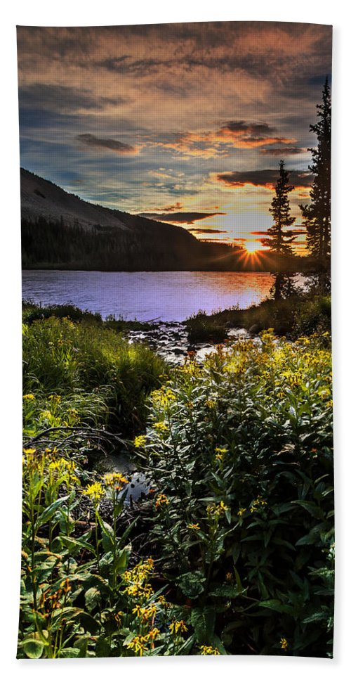 Landscape Hand Towel featuring the photograph Mitchell Sunrise by Steven Reed