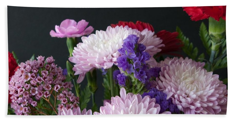 Bouquet Hand Towel featuring the photograph Mixed Bouquet by Ann Horn