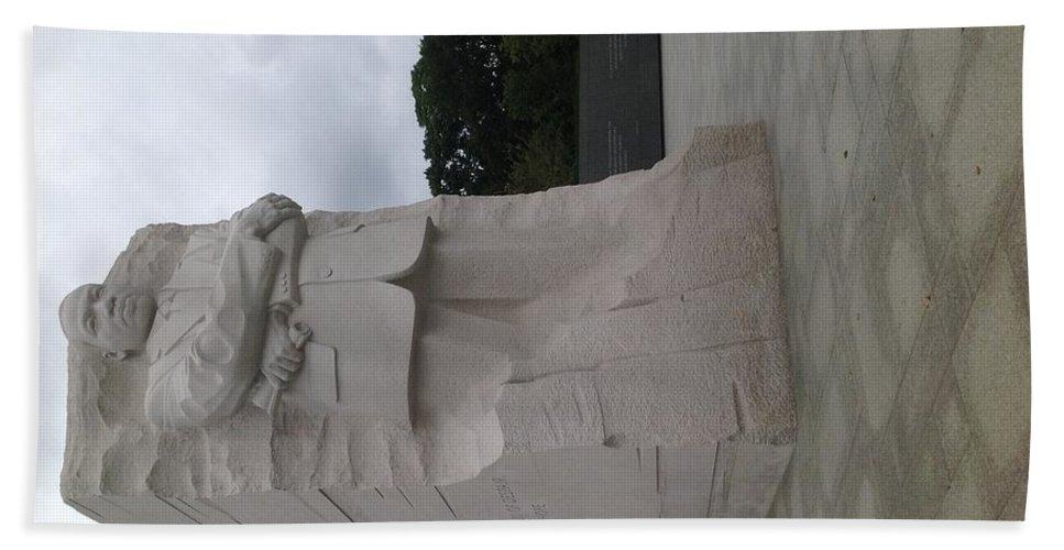 Bath Sheet featuring the sculpture MLK by Moshood Salu
