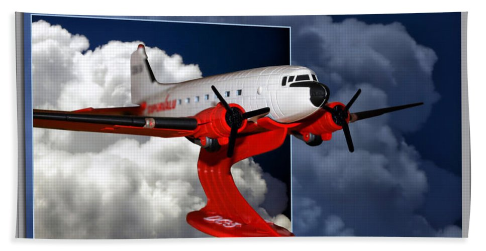Models Bath Sheet featuring the photograph Model Planes Dc3 01 by Thomas Woolworth