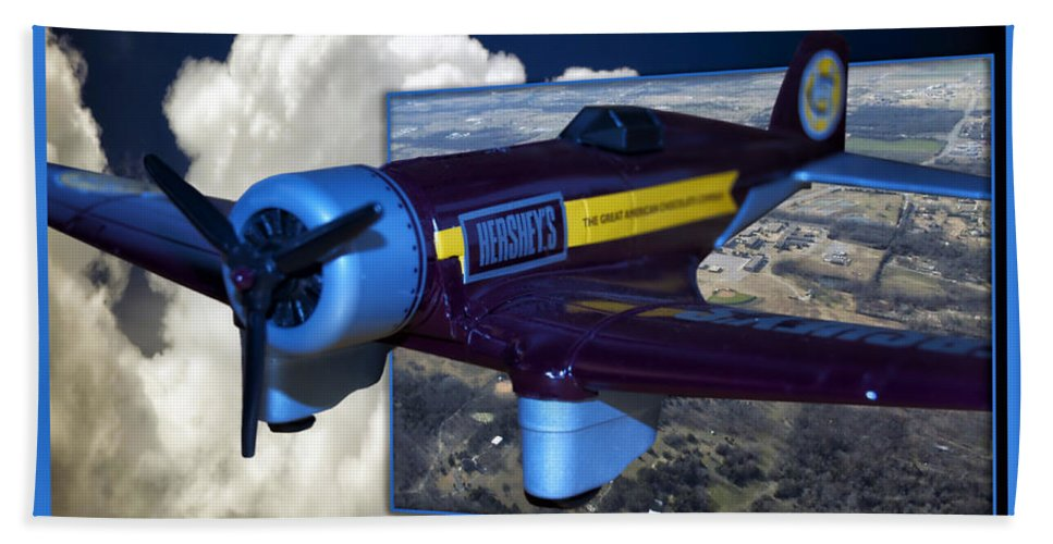 Out Of Bounds Bath Sheet featuring the photograph Model Planes Hershey 01 by Thomas Woolworth
