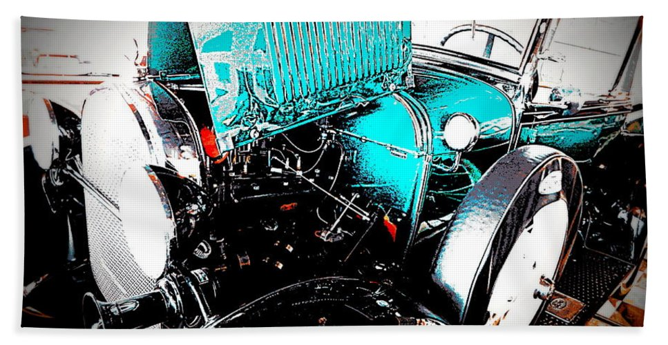 Acrylic Prints Hand Towel featuring the photograph Model T Truck II by Bobbee Rickard