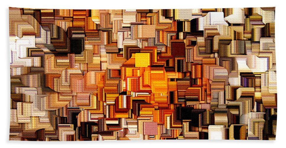 Squares Bath Sheet featuring the digital art Modern Abstract Xxvi by Lourry Legarde