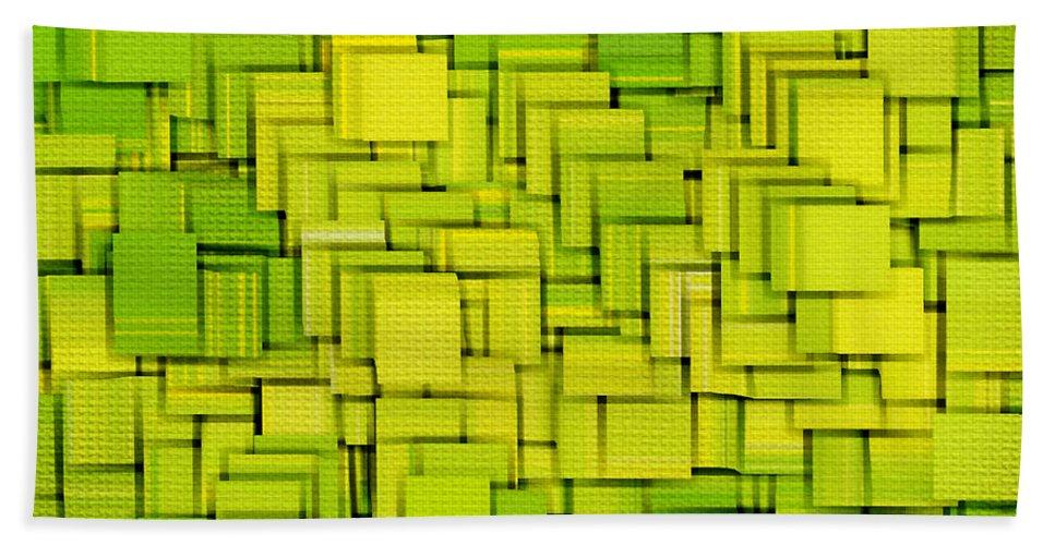 Light Green Bath Sheet featuring the digital art Modern Abstract Xxxiii by Lourry Legarde