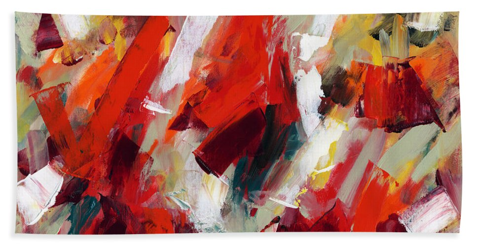 Modern Art Hand Towel featuring the painting Modern Art Thirty-two by Lynne Taetzsch
