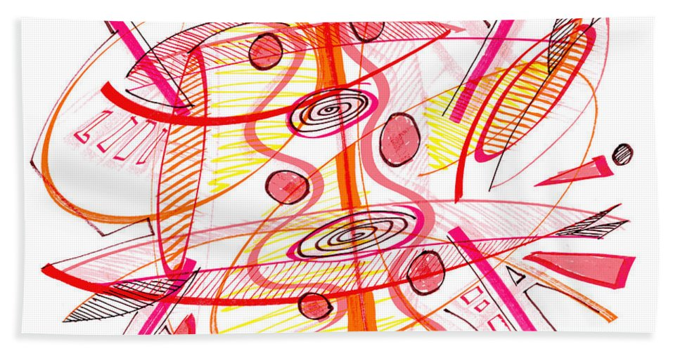 Modern Drawing Hand Towel featuring the drawing Modern Drawing Seventy-four by Lynne Taetzsch